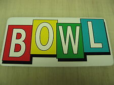 BOWL Sign Metel vintage Table billiard Ball Bowling Alley Retro Design public