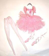 Barbie Ensemble Pink Ballet Costume Fashion For Barbie Dolls rf11