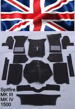 kompl. Teppich satz Triumph Spitfire MK III -MKIV -1500 Velour Schwarz
