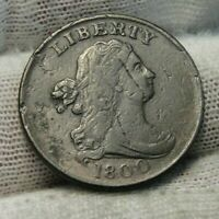 1800 Draped Bust Half Cent, Nice Coin, Free Shipping  (9327)