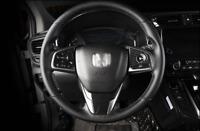For Honda CRV 2017-2019 ABS Carbon Fiber Pattern Steering Wheel Trim Cover