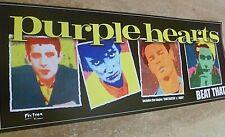 PURPLE HEARTS UNIQUELY DESIGNED 'BEAT THAT!'  BANNER STYLE POSTER, 75 CM X 30 CM