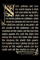 "GAME OF THRONES - NIGHTWATCH OATH - 91 x 61 cm 36"" x 24""  TV SERIES POSTER x"