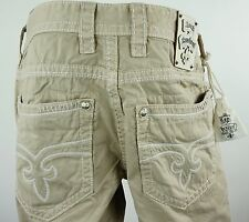 "$220 Mens Rock Revival Pants ""Commando Twill Pocket"" Khaki 32 X 31"