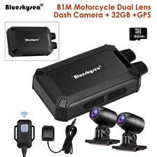 B1M IP67 NT96663 Dual Channels 1080P 30FPS Motorcycle Wifi GPS Dash Cam DVR 32GB