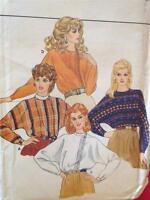 Butterick Sewing Pattern 4474 Ladies / Misses Blouse Size 14 Uncut