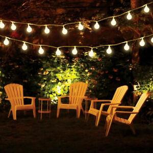 LED Globe Bulb Ball Fairy String Lights Mains Plug In Garden Outdoor Indoor Xmas