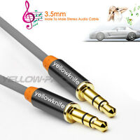 3Ft Male to Male 3.5mm Gold Plated Tangle-Free Auxiliary Audio Stereo Cable Cord