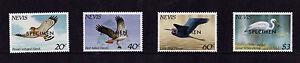 Nevis - 1985 Hawks & Herons - U/M - SG 265-8 SPECIMEN Overprints