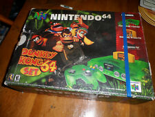 JUNGLE GREEN NINTENDO 64 SYSTEM in DONKEY KONG BOX - NO GAME - PLEASE READ!