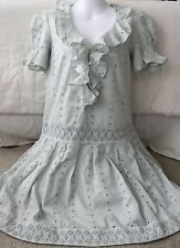 Marc by Marc Jacobs Light Green Embroidered Dress Size XS NWT