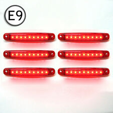 6 X Led Side Marker Light Truck Lorry Chassis Trailer Waterproof 24v E-Marked