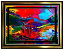 PETER MAX Original Signed PAINTING Pop ART AUTUMN Acrylic Oil Iconic Four Season
