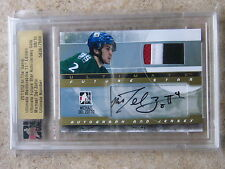 11-12 ITG Ultimate Mem 11th Future Star Auto & Jersey MICHAEL DEL ZOTTO Gold /10