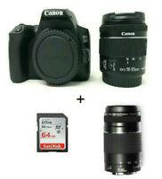 EOS 250D +EF-s 18-55mm f/4-5.6 IS STM Lens + 75-300mm + 64Gb / Stock in UK