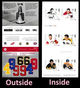 Canada 3032a BK678 NHL Legends 'P' booklet (6 stamps) MNH 2017