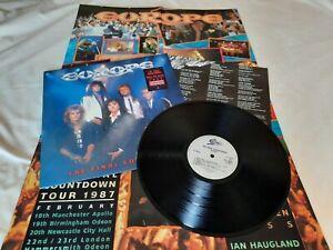 Europe THE FINAL COUNTDOWN LP Original UK press + Poster + Insert **VG++ vinyl**