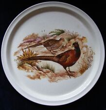 30.5cm Round Plate Featuring Brace of Pheasants - Please See Photos