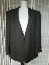 Stylish Brooks Brothers 44L Herringbone Grey  Suit Jacket/Blazer