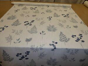 JOHN LEWIS - WISLEY NAVY - Cotton/Linen Print Fabric (Flower Design)