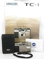 Minolta TC-1 Point & Shoot 35mm Film Camera W/CASE free shipping JAPAN
