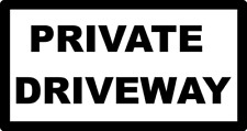 """12 x 6""""  PRIVATE DRIVEWAY  METAL SIGN - LANE DRIVE ENTRANCE KEEP OUT PARKING 149"""