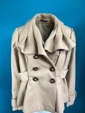 Love Label Beige Camel Short Coat Size 16