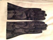 Vintage black kid gloves made in Italy sz 6 1/2 washable Boyce Lazarus
