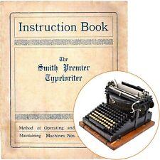 SMITH PREMIER No.4 TYPEWRITER INSTRUCTION MANUAL Antique Vtg Repro