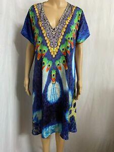 RUBY YAY YA SIZE L  EMBELLISHED KAFTAN DRESS