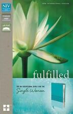 NIV, Fulfilled Devotional Bible for the Single Woman, Imitation Leather, Turquoi