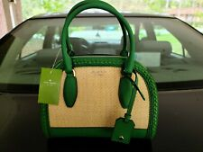 Kate Spade New York Reiley Straw Medium Bag GREEN! Crossbody Bag NWT!