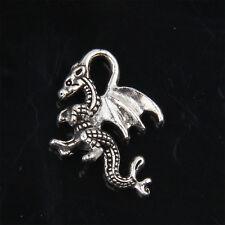 30pcs Tibetan Silver dragon Charms Pendant for Jewelry 21mm ABF147