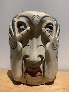 Vintage Wood Carved Mask