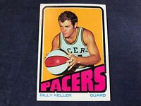 Z3-84 BASKETBALL CARD - BILLY KELLER INDIANA PACERS - 1972 TOPPS - CARD #192