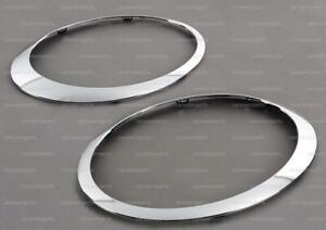 Mini Cooper 2007 2008 - 2015 Headlight Trim Ring - Chrome Set Left+Right Genuine