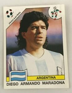 Figurina 128 MARADONA Album CALCIATORI PANINI ITALIA 90 wc world cup sticker NEW