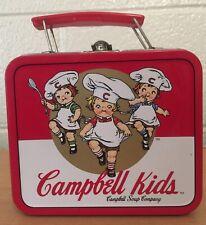 Vintage Collectible 1998 Campbells Soup Company Kids Metal Lunch Box Pail