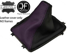 BLACK & PURPLE LEATHER MANUAL GEAR BOOT 5 & 6 SPEED FITS HOLDEN VY VZ COMMODORE