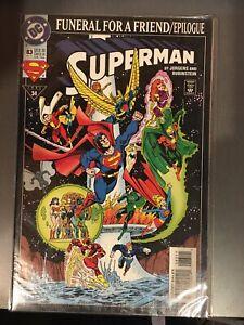"1993 DC Comics Superman #83  "" Funeral for a Friend  Epilogue ""  November"