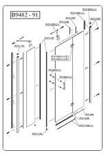 SAMO - DUCHA - RIC1197 - Grupo sellos imanes 45° dx para puerta Polaris