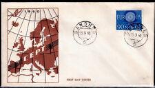 EUROPA CEPT FDC 1960 NORVEGE 1 - SANDNES