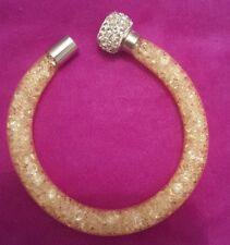 Cream Magnetic mesh bracelet uk seller in organza pouch