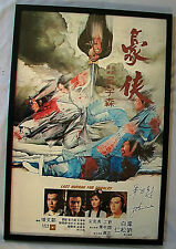THE LAST HURRAGH FOR CHIVALRY Autographed 1979 Original Poster JOHN WOO Signed