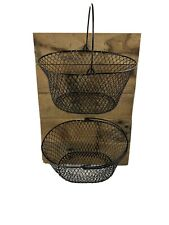 Wooden wall hanging  Farmhouse Wire Fruit Basket