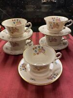 Syracuse China Old Ivory OPCO Coventry Footed Tea Cup & Saucer Set 1950's