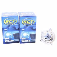 2x SCT H4 White Plasma Halogenlampe Leuchte 12V 60/55W Glühlampe LED Xenon