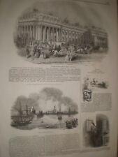 Board of Trade Whitehall London & fire East Greenwich 1845 prints ref D