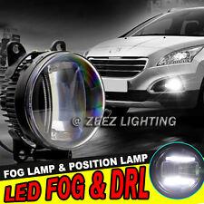 LED Projector Fog Driving Lamp w/ DRL Daytime Running Light For Cars Trucks SUVs