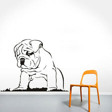 Languid Dog Wall Sticker Bulldog Puppy Wall Decal Kids Room Decor Quote Art